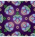 Floral dark violet seamless pattern vector image