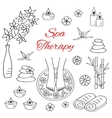 Spa woman feet in bowl vector image