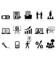 business presentation icons set vector image