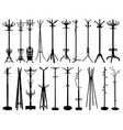 Coat stand silhouettes vector image vector image