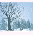 christmas snow landscape snowy forest winter vector image