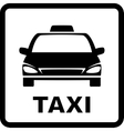 black sign with taxi car vector image