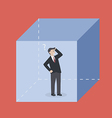 Businessman in the box vector image