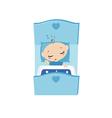 a little boy sleeping vector image