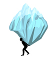 carrying man with a mountain vector image