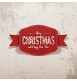 Christmas realistic greeting red Card and Ribbon vector image