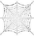 hanging uniform web with circles vector image