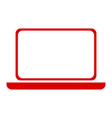 isolated laptop outline vector image