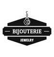 jewelry shop logo simple black style vector image