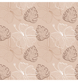 lace hibiscus pattern vector image
