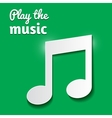 Music note isolated on green background vector image