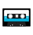 plastic audio tape cassette retro music icon vector image