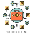 Project budgeting line icons vector image