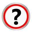 Question icon on white background vector image