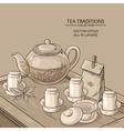 Tea Ceremony llustration vector image