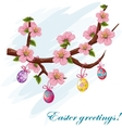 The background to the day of Easter vector image