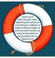 Lifebuoy on dark background with space for a text vector image
