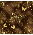 Seamless dark brown pattern vector image vector image