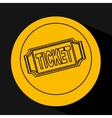 silhouette head concept cinema ticket vector image