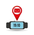 watch email app social network vector image
