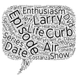 Curb Your Enthusiasm DVD Review text background vector image
