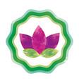 symbol flower watercolor paint vector image