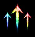 Three fire arrows vector image vector image