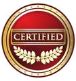 Certified Red Label vector image vector image