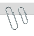 Metal paperclip and paper vector image vector image