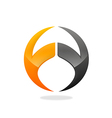 round arch technology logo vector image