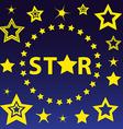 Set of night stars circle vector image