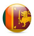 Round glossy icon of sri lanka vector image