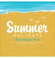 Travel banner summer holidays vector image
