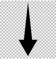 black down arrow on tramsparent down arrow vector image