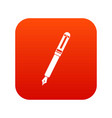 black fountain pen icon digital red vector image