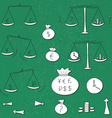 Business and finance icons vector image