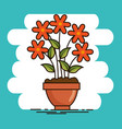 cute beautiful house plants cartoons vector image