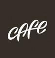 modern professional sign logo cafe vector image