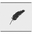 plumage icon black color on transparent vector image