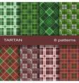 Set of tartan pattern vector image