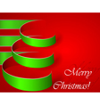Green stripe Christmas tree eps10 vector image vector image