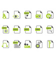 files icon setgreen series vector image vector image