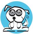 Sad mutt dog vector image