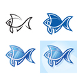 Stylized fish set vector image vector image