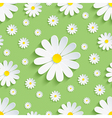 Spring nature green seamless pattern 3d chamomile vector image vector image