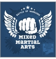 Fight club MMA Mixed martial arts vector image