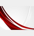 Red grey wavy corporate abstract background vector image