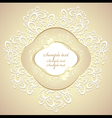 Wedding or sweet frame with petals and lace vector image vector image