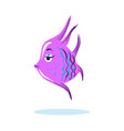 cartoon cute serious face fish marine character vector image