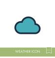 cloud icon meteorology weather vector image